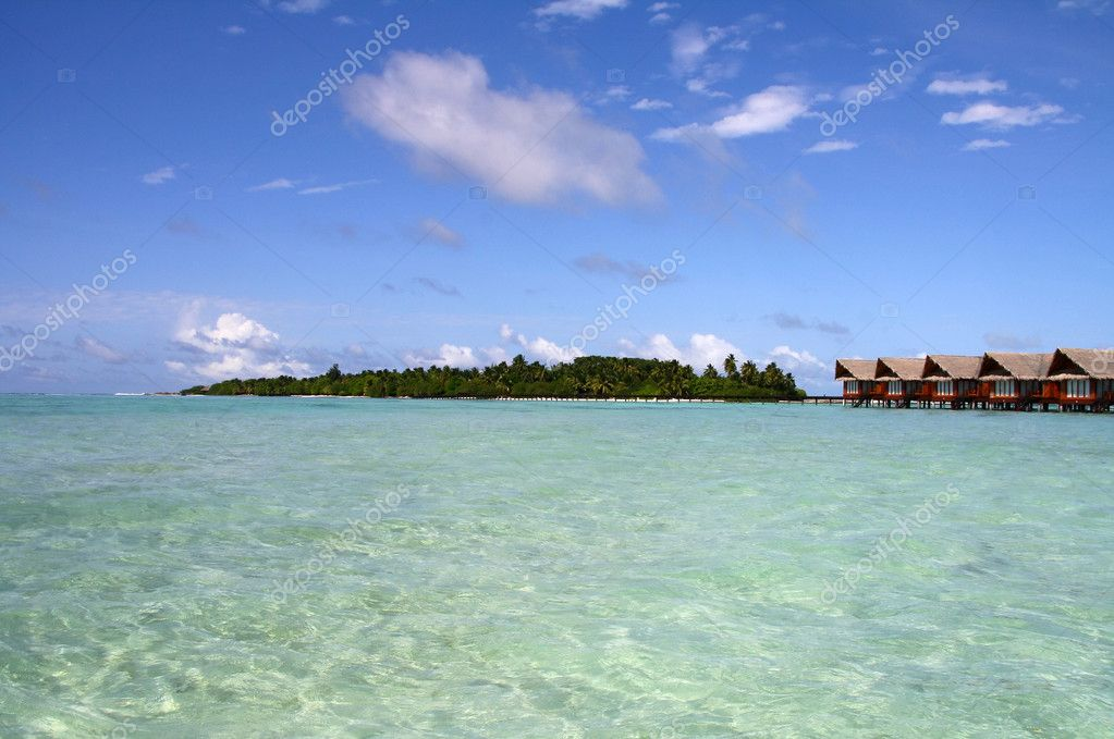 Lagoon view for Hudhuranfushi island — Stock Photo #2308832