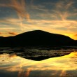 Magical sunset with reflection — Stock Photo