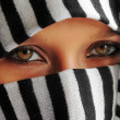 Arabic beauty eyes — Stock Photo