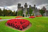 Ashford castle and gardens — Stock Photo