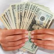 Money in the hand — Stock Photo