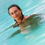 Maldivian pool beauty — Stock Photo