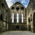 Rock of Cashel - ruins interior — Stock Photo