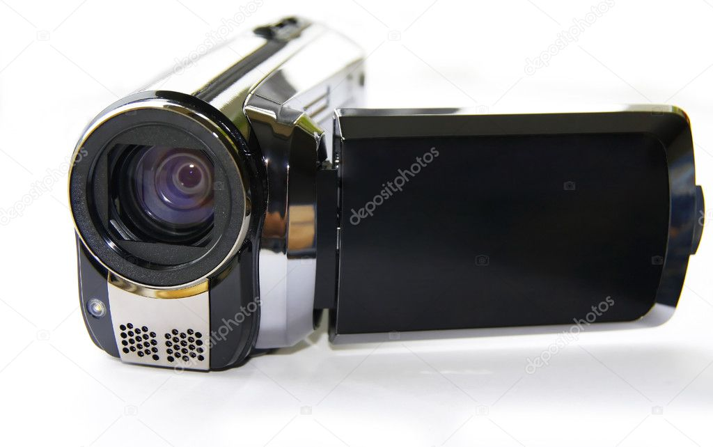 Camcorder isolated on white — Stock Photo #2422241
