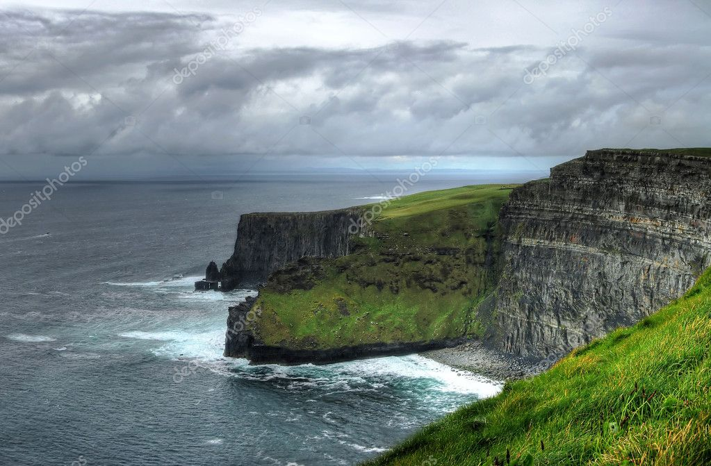Cliffs of Moher - highest cliffs in Europe  Stock Photo #2422558