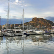 Yacht bay of Alicante — Stock Photo