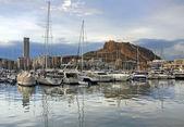 Yacht bay of Alicante — Stock Photo