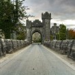 Welcome to Ashford castle - Stock Photo
