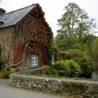 Autumn cottage house - Stock Photo