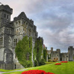 Ashford castle panoramic — Stock Photo