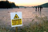 Danger on ice — Stock Photo