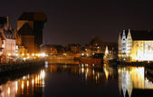 Gdansk at night — Stock Photo