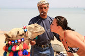 Camel kiss — Stock Photo