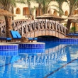 Resort bridge in Egypt — Stock Photo