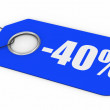 50% Off Price Tag - Stock Photo