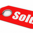 Sold Price Tag - Stock Photo
