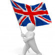 Person with England flag - Stock Photo