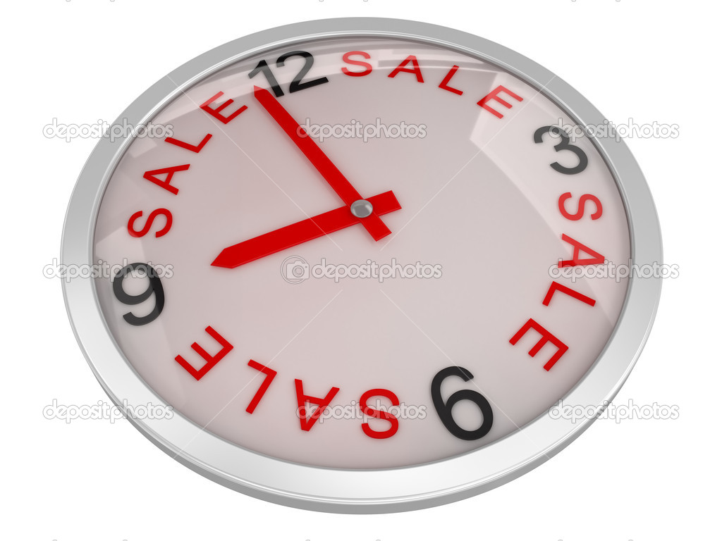 Digitally Generated Clock Image  Stock Photo #2281749