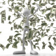 Person IN money - Stock Photo