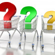 Royalty-Free Stock Photo: Shopping Cart with Question