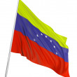 3D Flag of Venezuela - Stock Photo