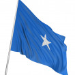 3D Somali flag - Stock Photo