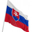 3D Slovak flag - Stock Photo