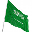 3D flag of Saudi Arabia - Stock Photo