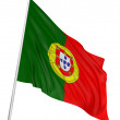 3D Portuguese flag - Stock Photo