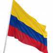 3D Colombian flag - Stock Photo
