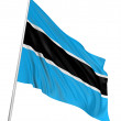 3D Flag of Botswana - Stock Photo