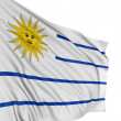 3D Uruguayan flag - Stock Photo