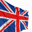 3D United Kingdom Flag - Stock Photo