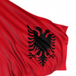 Royalty-Free Stock Photo: 3D Albanian flag