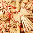 Christmas decorations from straw — Stock Photo