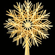 Christmas straw star — Stock Photo