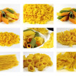 Italian pasta collection - collage — Stockfoto
