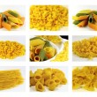 Italian pasta collection - collage - Stock Photo