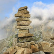 Pile of stones in High Tatras, Slovakia — Stock Photo