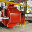 Stock Photo: Gas steam boiler
