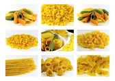 Italian pasta collection - collage — Stock Photo