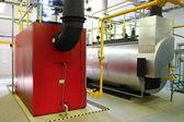 Gas steam boiler — Stock Photo