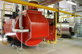 Gas steam boiler — Stock Photo