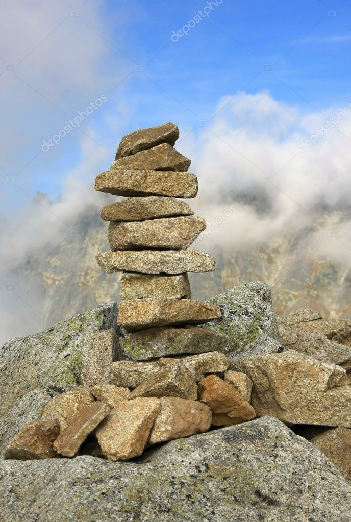 Pile of stones in High Tatras, Slovakia — Stock Photo ...