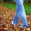 Walking through park — Stock Photo