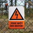 Picture of high voltage sign — Foto Stock