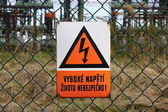 Picture of high voltage sign — Stock Photo