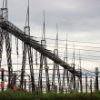Stock Photo: Columns high voltage