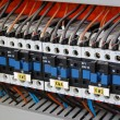 Stock Photo: Electrical relays, breakers and ballasts