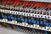 Electrical relays, breakers and ballasts — Stock Photo